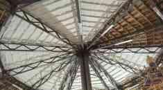 Утеплення круглого даху